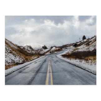 Alaskan Road Postcard