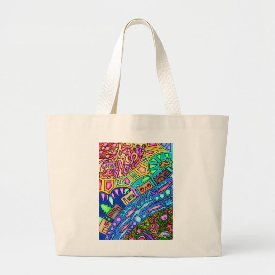 Alaskan Roots large tote by Angie Muller