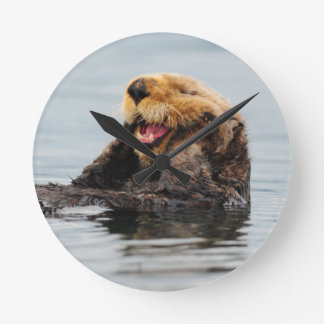 Alaskan Sea Otter Round Clock