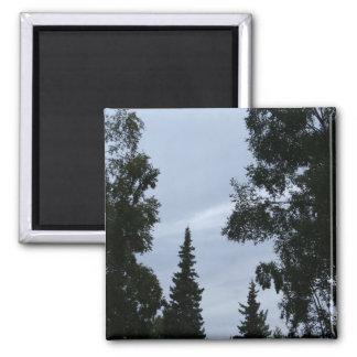 Alaskan sky 2 inch square magnet