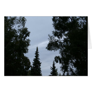 Alaskan sky stationery note card