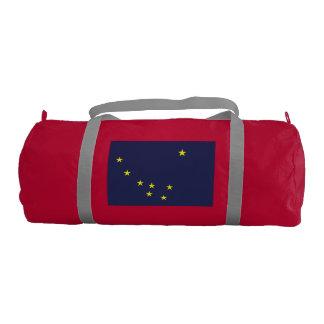 Alaskan State Flag Gym Duffel Bag