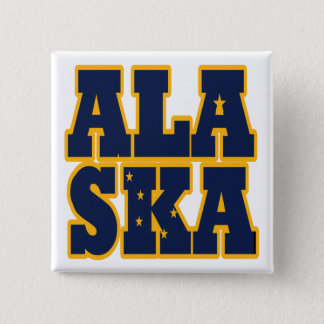 Alaskan State flag text Button