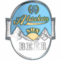 alaskan sun beer photo sculpture