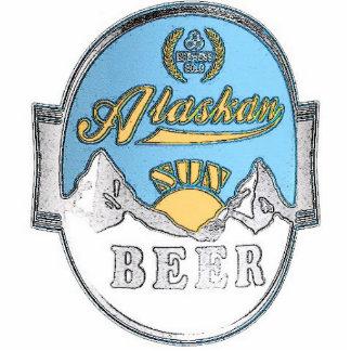 alaskan sun beer photo sculpture
