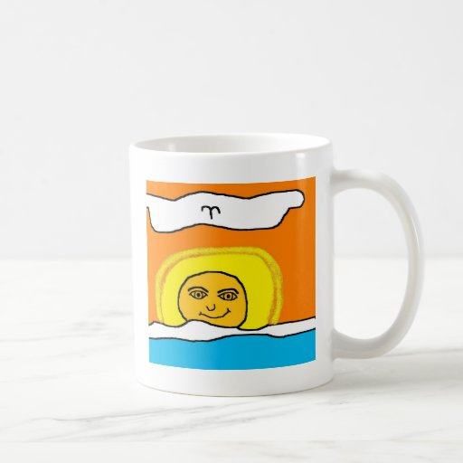 alaskan sunset classic white coffee mug
