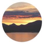 Alaskan Sunset I Beautiful Alaska Photography Classic Round Sticker