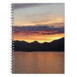 Alaskan Sunset I Beautiful Alaska Photography Spiral Notebook