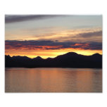 Alaskan Sunset I Beautiful Alaska Photography Photo Print