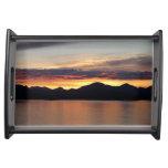 Alaskan Sunset I Beautiful Alaska Photography Serving Tray