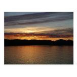 Alaskan Sunset II Beautiful Alaska Photography Postcard