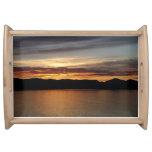 Alaskan Sunset II Beautiful Alaska Photography Serving Tray
