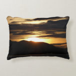 Alaskan Sunset III Beautiful Alaska Photography Accent Pillow