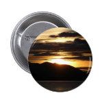 Alaskan Sunset III Beautiful Alaska Photography Button