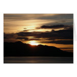 Alaskan Sunset III Beautiful Alaska Photography Card