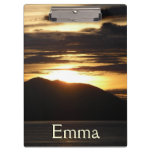 Alaskan Sunset III Beautiful Alaska Photography Clipboard