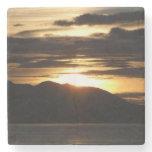Alaskan Sunset III Beautiful Alaska Photography Stone Beverage Coaster