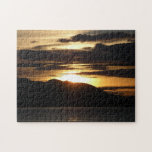 Alaskan Sunset III Beautiful Alaska Photography Jigsaw Puzzle
