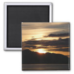 Alaskan Sunset III Beautiful Alaska Photography Magnet