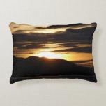Alaskan Sunset III Beautiful Alaska Photography Accent Pillow