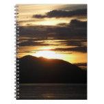 Alaskan Sunset III Beautiful Alaska Photography Spiral Notebook
