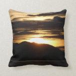 Alaskan Sunset III Beautiful Alaska Photography Throw Pillow