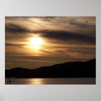 alaskan sunset print