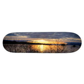 Alaskan sunset skateboard