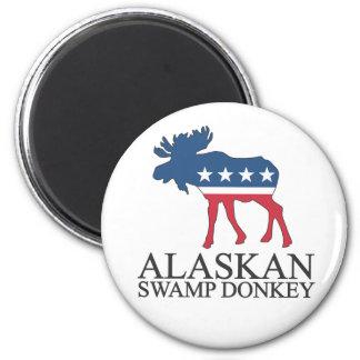 Alaskan Swamp Donkey Fridge Magnets