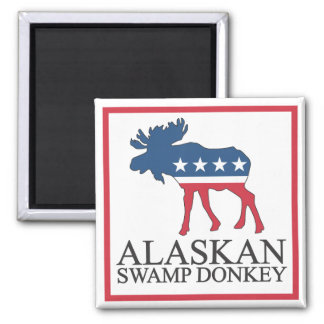 Alaskan Swamp Donkey Refrigerator Magnets