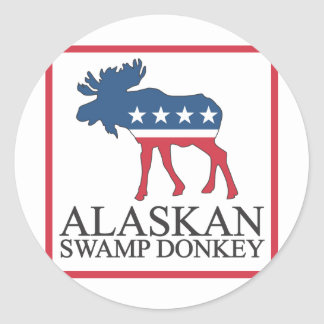 Alaskan Swamp Donkey Sticker