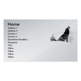 Alaskan Timber Wolf Business Cards