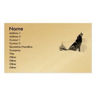 Alaskan Timber Wolf Business Card Templates