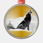 Alaskan Timber Wolf Christmas Tree Ornaments