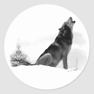Alaskan Timber Wolf Sticker
