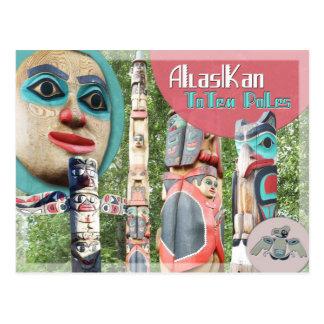 Alaskan Totem Poles Postcard