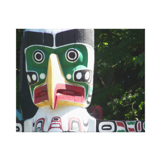 "Alaskan Tribal Totem CS 20"" x 16"" Canvas Print"
