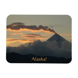 Alaskan Volcano at Sunset Magnet