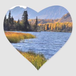 Alaskan Wilderness Heart Sticker