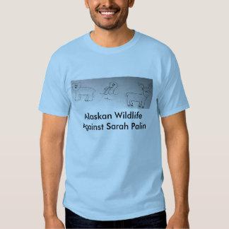 Alaskan Wildlife Against Sarah Palin Tshirts