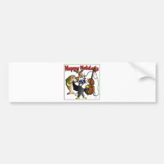 ALASKAN WILDLIFE CHRISTMAS CARD BUMPER STICKERS