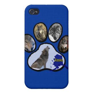 Alaskan Wolf Paw Print iPhone 4/4S Covers