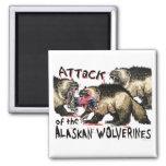 Alaskan Wolverines by Mudge Studios Refrigerator Magnet