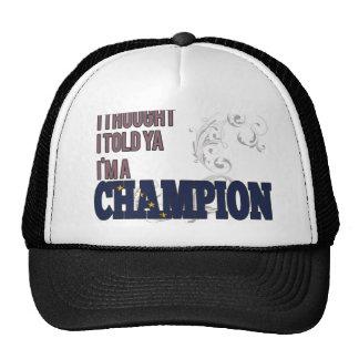 Alaskan y un campeón gorro de camionero