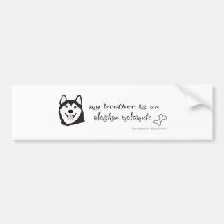 AlaskanMalamuteBrotherBlk Bumper Sticker