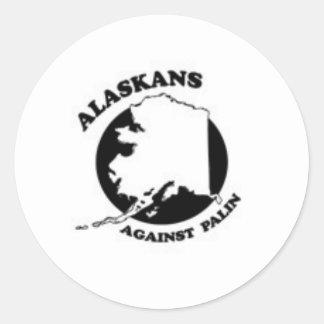 Alaskans against Palin Classic Round Sticker