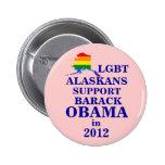 Alaskans de LGBT para Obama 2012 Pins