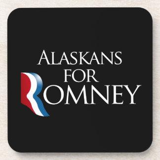 Alaskans for Romney -.png Beverage Coasters