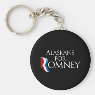 Alaskans for Romney -.png Basic Round Button Keychain