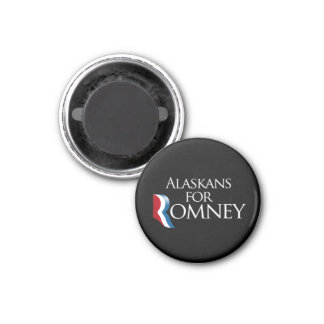 Alaskans for Romney -.png 1 Inch Round Magnet